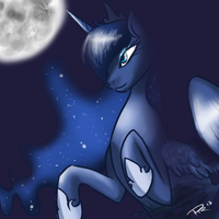 La Luna by PandaRainbow