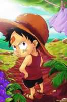 Child Luffy by luffy0910