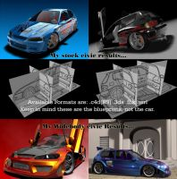 Honda Civic EG6 Blueprints by ragingpixels