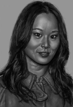 Jamie Chung by limnarian