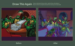 TMNT Downtime (Draw This Again) 2009-2012 by santivill