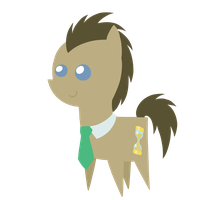 Doctor Whooves chibi by DragonGirl983