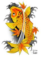 Japanese Koi Fish by davepinsker