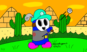 Golfing at Shy Guy Desert by MarioSimpson1