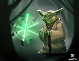 Yoda Colour by billythebrain