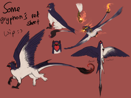 WIP Dragryph Reference Sheet by DJaimon
