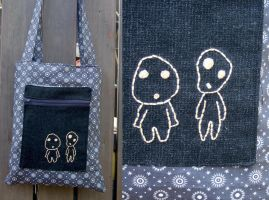 grey kodama tone bag by yael360