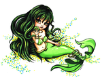 Rina from mermaid melody - Colored by JadeDragonne