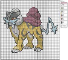 243 - Raikou by Makibird-Stitching