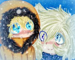 South Park-Kenny and Lenore-Snowfall by RainbowDashhh69