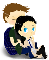Dean and Cas by Cris-Gee
