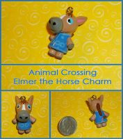 Animal Crossing - Elmer the Horse Charm - Handmade by YellerCrakka