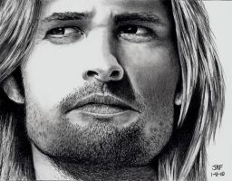 Josh Holloway as Sawyer by Rick-Kills-Pencils