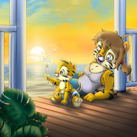 Beach Porch Sunrise by Tavi-Munk
