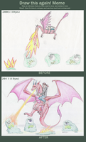 Meme before and after dragon by LauraRamirez