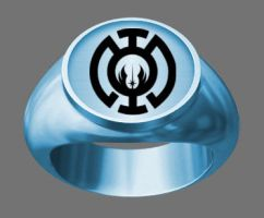 Ring of the Blue Lantern Jedi Order by Lord-Lycan