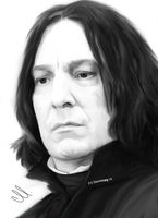 Severu Snape Painting by perlaque