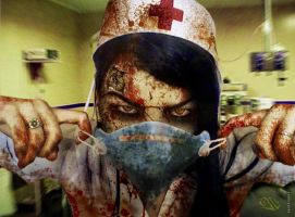 ZOMBIE NURSE by JxCxNAPALM