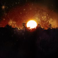 Sun Behind The Woods -space edit- by IoannisCleary