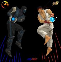 Subzero vs Ryu by dnxpunk