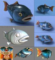 Cartoon Fish by RaduChiotan