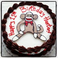 Sock Monkey Cake by simplysweets