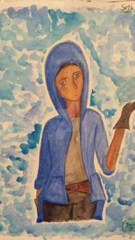 Seth - watercolor painting by Pyro-Pisces