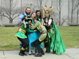 Asgard's Royal Family by StickandStoneCosplay
