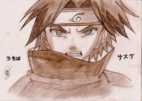 sasuke face by badwich