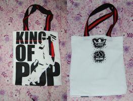 King Of Pop Tote by danger0usangel03