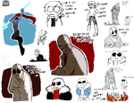 UNDERTALE - Mostly Underfell dumpster - by BloodyArchimedes