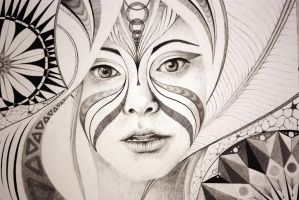 Circular abstract portrait by Emi-leigh