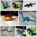 Pipecleaner Creatures by jadestonethedragon
