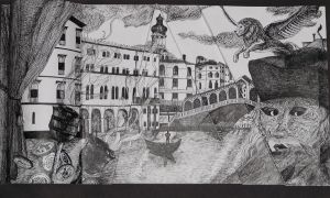 Carnival in Venice (Ink, 3D) by SeaPlume