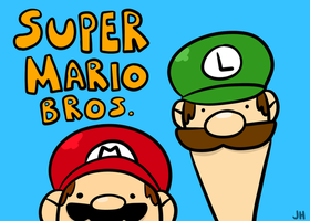 Super Bros by WaywardDoodles
