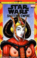 Naughty Queen Amidala bust cover by gb2k