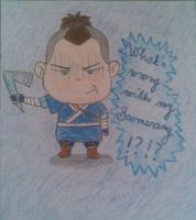 Sokka and his boomerang by Catharaa