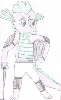 MLP Spike Fencer by Siluntwolf