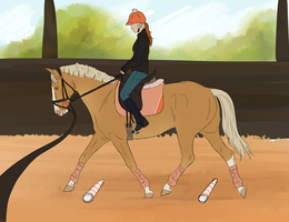 Lunging with a rider by Aithair