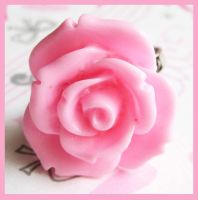 Pink Rose Ring by cherryboop