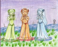 three goddesses statues by i-spangler