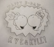 happy birthday kye and kyle by GyRoEsEhNi