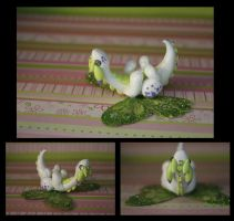 Speckled green Garden Dragon Comission by KiwiPheonix