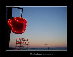 Seattle:Morning Cuppa by timmacauley