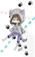 Day 39: the Hoodie of Meow by Falling-Wish