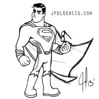 Man of Steel (sketch) by JFulgencio