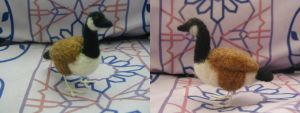 Needle Felted Canadian Goose by Aura-BleedingHeart