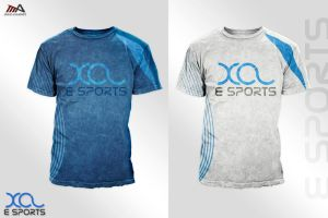 xcl E sports t-shirt by REDFLOOD