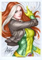 Rogue by Stanley Artgerm Lau colored by GordonAlyx