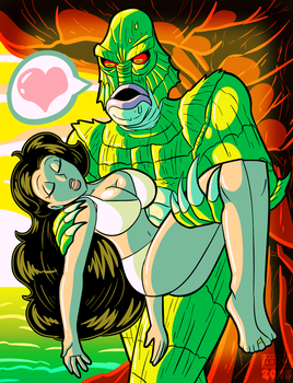 Creature from the Black Lagoon by MichaelJLarson